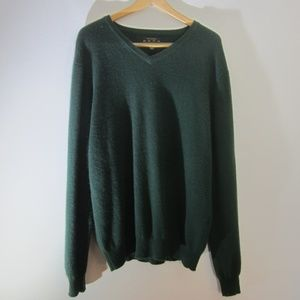 Club Room Mens L Green Estate Cashmere LS Sweater